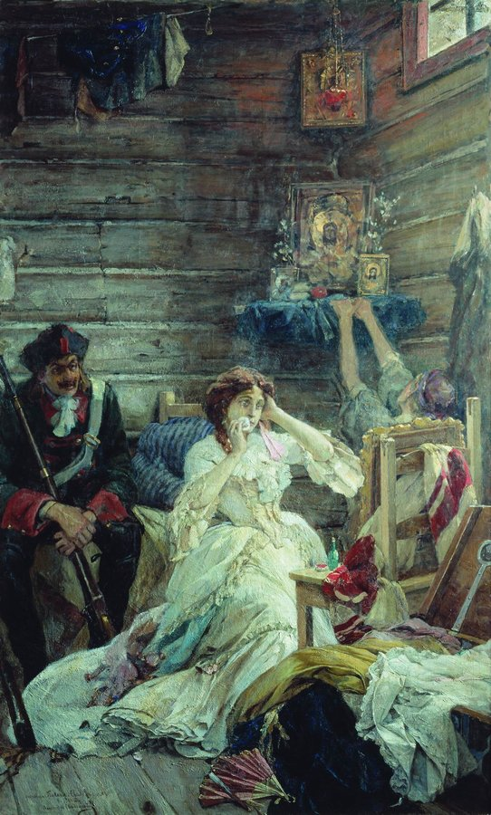 Mary_Hamilton_awaiting_execution._painting_by_Pavel_Svedomskiy
